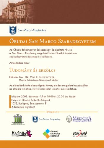 San Marco Szabadegyetem - 2008. november