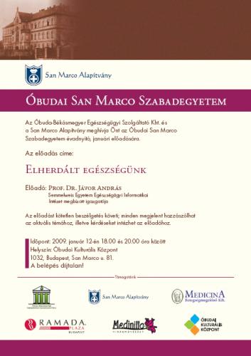 San Marco Szabadegyetem - 2009. január