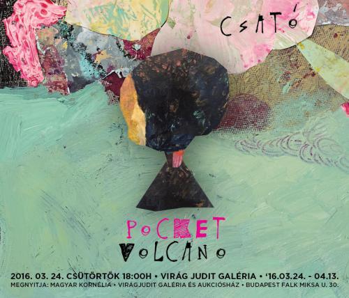 Csató József: Pocket Volcano, plakát