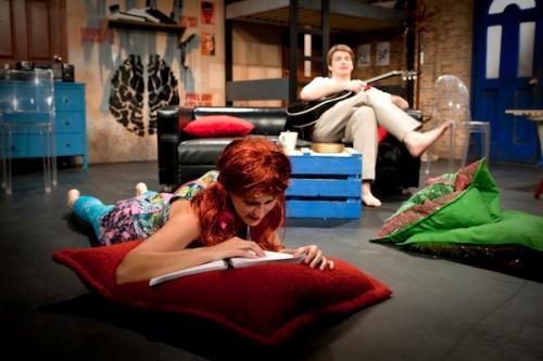 A Pillangók Szabadok c. előadás a Thália Színház Új Stúdiójában (Fotó: Kállai-Tóth Anett)