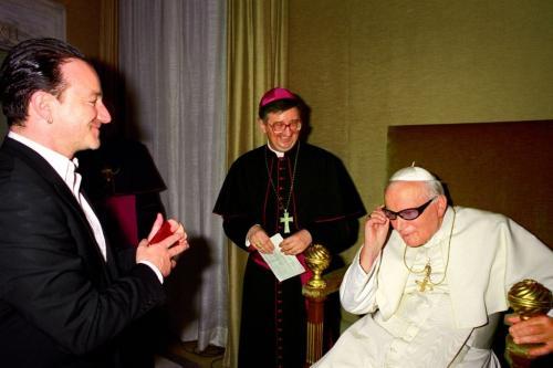 II. János Pál és Bono
