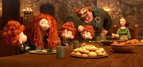 Merida családja körében