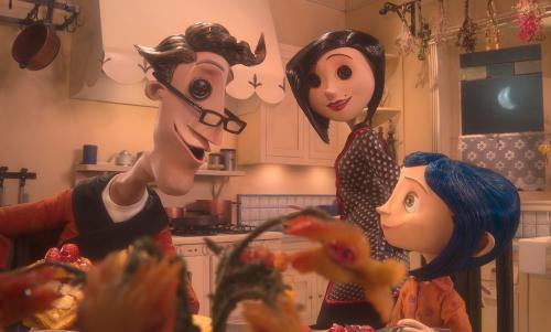Coraline másik szüleivel: © 2008 LAIKA, Inc. All rights reserved.