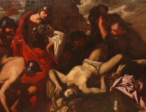 Antonio Zanchi: Dareiosz holttestének megtalálása