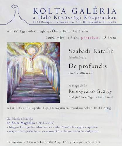 Szabadi Katalin: De profundis