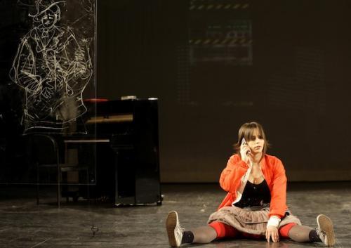 Tarján Zsófia az Egy színésznő lánya c. darabban