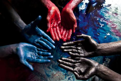 Blue, Red, Black, India