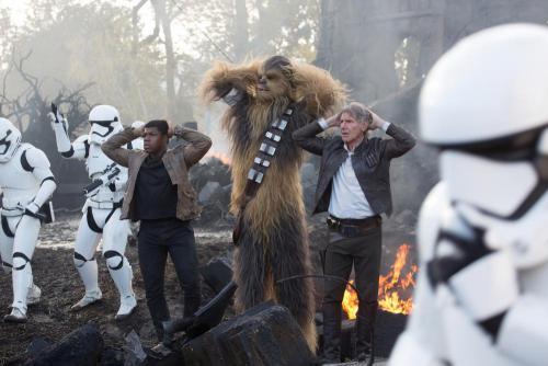 Finn, Chewbacca és Han Solo