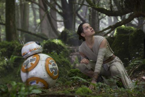 Daisy Ridley a Star Wars: Az ébredő Erő című filmben