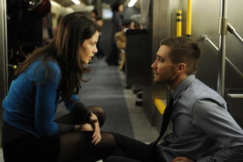 Jake Gyllenhaal & Michelle Monaghan a Forráskód c. filmben