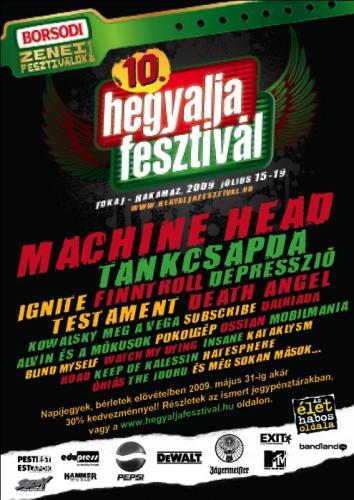 10. Hegyalja Fesztivál: Machine Head, Tankcsapda, stb...