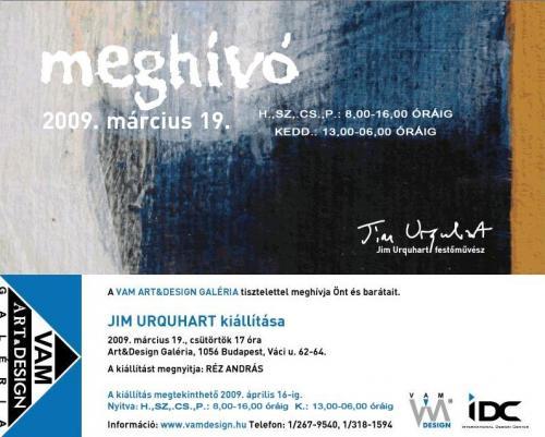 Megnyitó: Jim Urquhart kiállítása