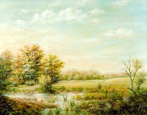Krupa József festménye