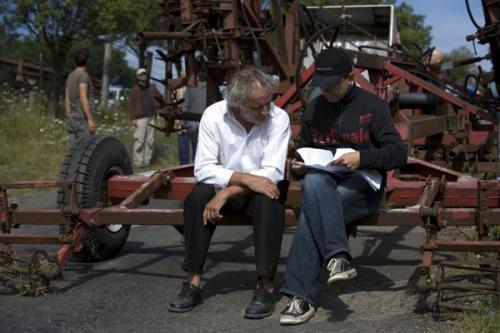 Keményffy Tamás és Lukáts Andor a Mázli forgatásán