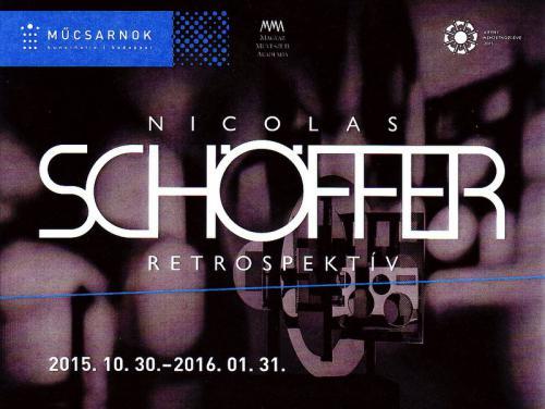 Nicolas Schöffer retrospektív plakát