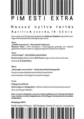 Petőfi Irodalmi Múzeum: Esti Extra
