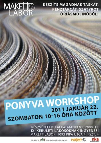 MakettLabor - ponyva workshop