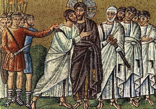 Ravennai mozaik: Júdás csókja
