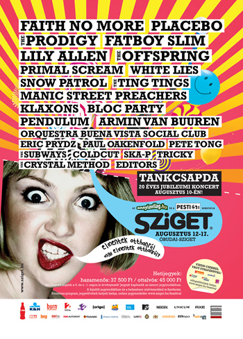 Sziget 2009: Faith No More, The Prodigy, Fatboy Slim...