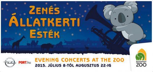 Zenés Állatkerti Esték plakát