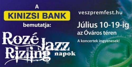 Rozé Rizling és Jazz Napok plakát