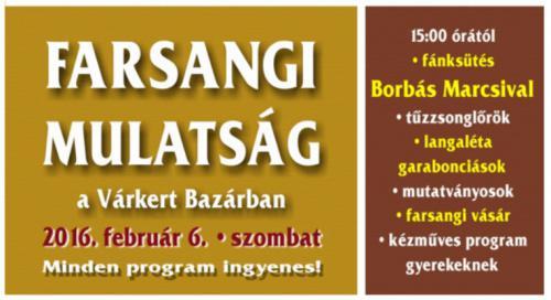 Farsangi mulatság plakát