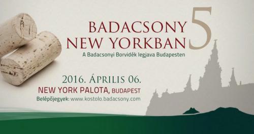 Badacsony New Yorkban plakát