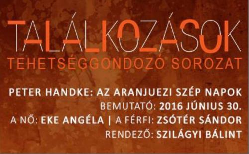 Az aranjuezi szép napok plakát