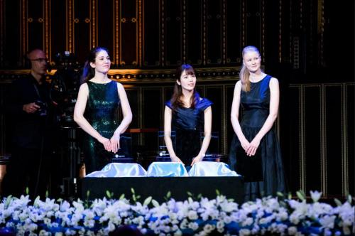 Langer Ágnes, Ririko Takagi, Cosima Soulez Lariviere - Fotó: Zeneakadémia/Adrián Zoltán