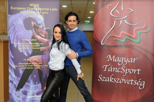 Váradi Martina és Andrea Silvestri, hétszeres latin tánc magyar bajnok páros (fotó Juhász Tibor)