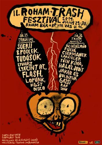 II. RoHAM Trash Fesztivál plakát