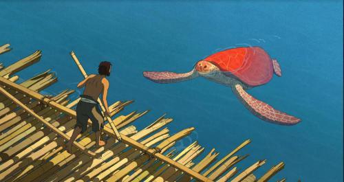 A vörös teknős - jelenet